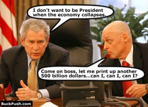 Paulson and Bush in their best Gang rags