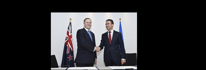 The Prime Minister of New Zealand visits NATO