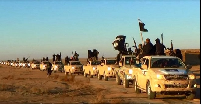 ISIS truck convoy Anbar Province