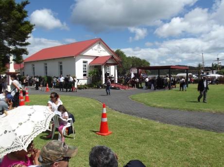 Te Tii Waitangi Marae. Empty! 20 minutes before John Key's arrival